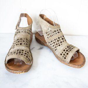 Josef Siebel Gladiator Leather Sandals, Size 37